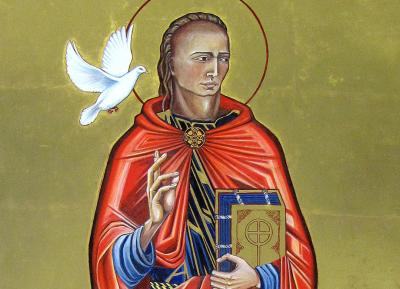 Icon of St David from the Cathedral's shrine to the saint