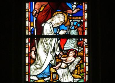Stained glass of the Nativity of Christ